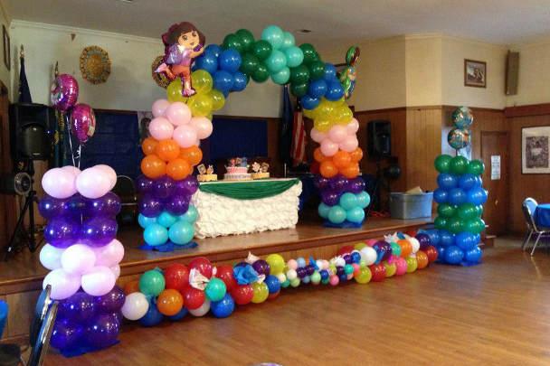 Оформление сцены в детском саду на 8 марта