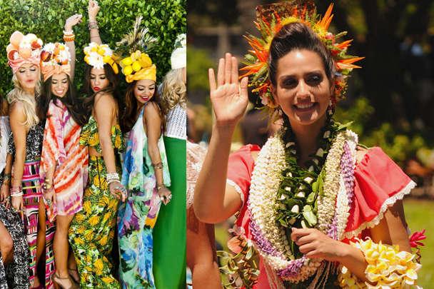 Костюм из подручных материалов для гавайского праздника
