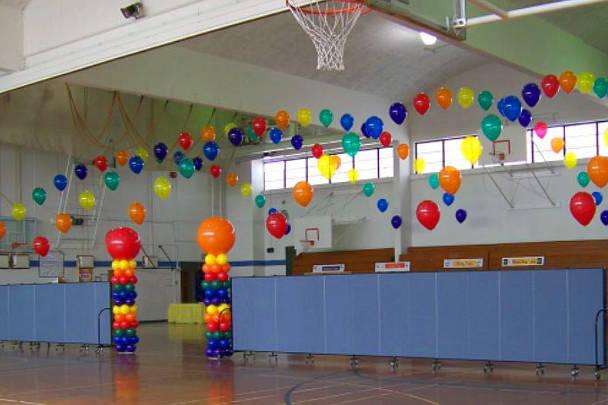 Украшение спортзала в школе на праздник