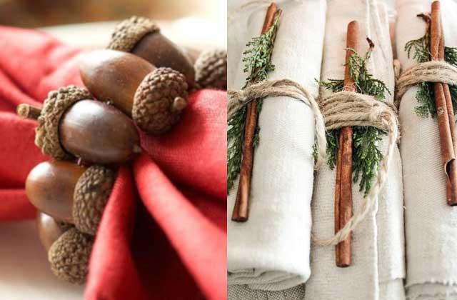 Праздничное украшение салфеток