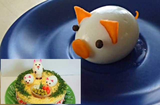 Свинки из яйца